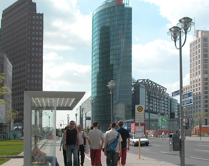 berlin potsdamer platz sony center zentrale der deutschen bahn ag u a. Black Bedroom Furniture Sets. Home Design Ideas